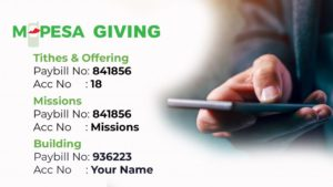 Mpesa Giving to Crossroads Fellowship Nyali